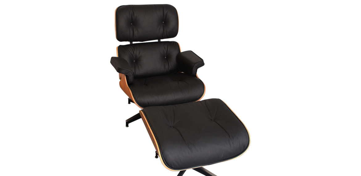 Admirable Charles Ray Eames Style Rosewood Lounge Chair Ottoman Black Pdpeps Interior Chair Design Pdpepsorg