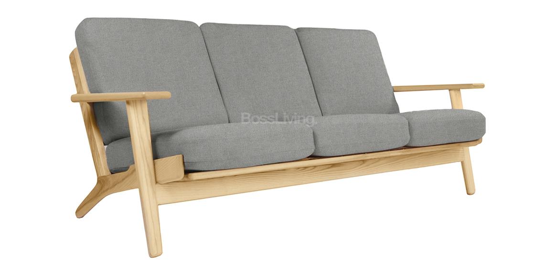 hans wegner style plank sofa grey cashmere boss livingboss living