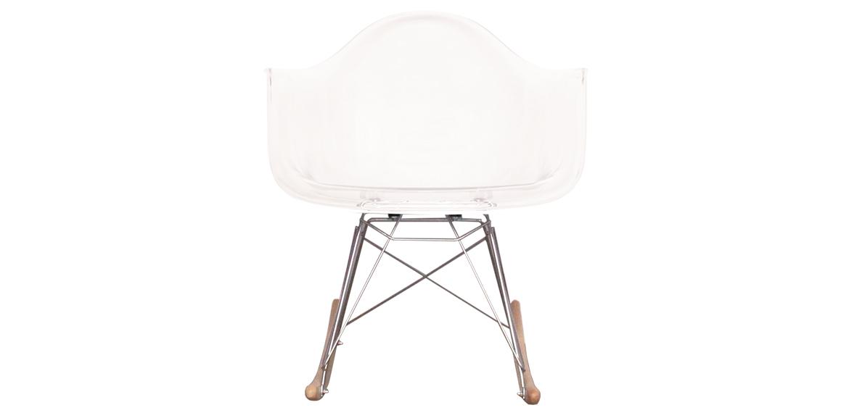 charles ray eames style rar rocking chair clear boss livingboss