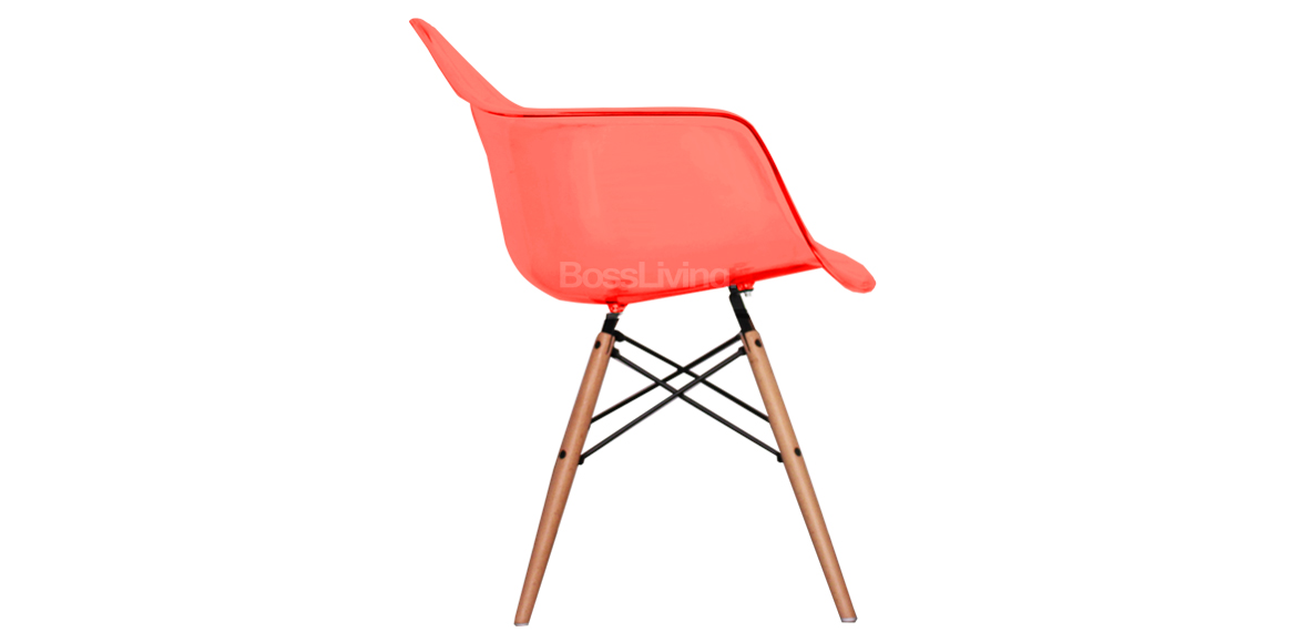 Charles ray eames style daw arm chair ghost red boss livingboss living - Eames ghost chair ...