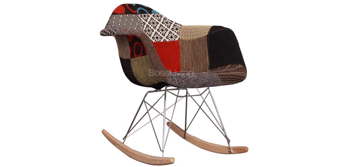charles ray eames style rar rocking chair patchwork boss livingboss living. Black Bedroom Furniture Sets. Home Design Ideas