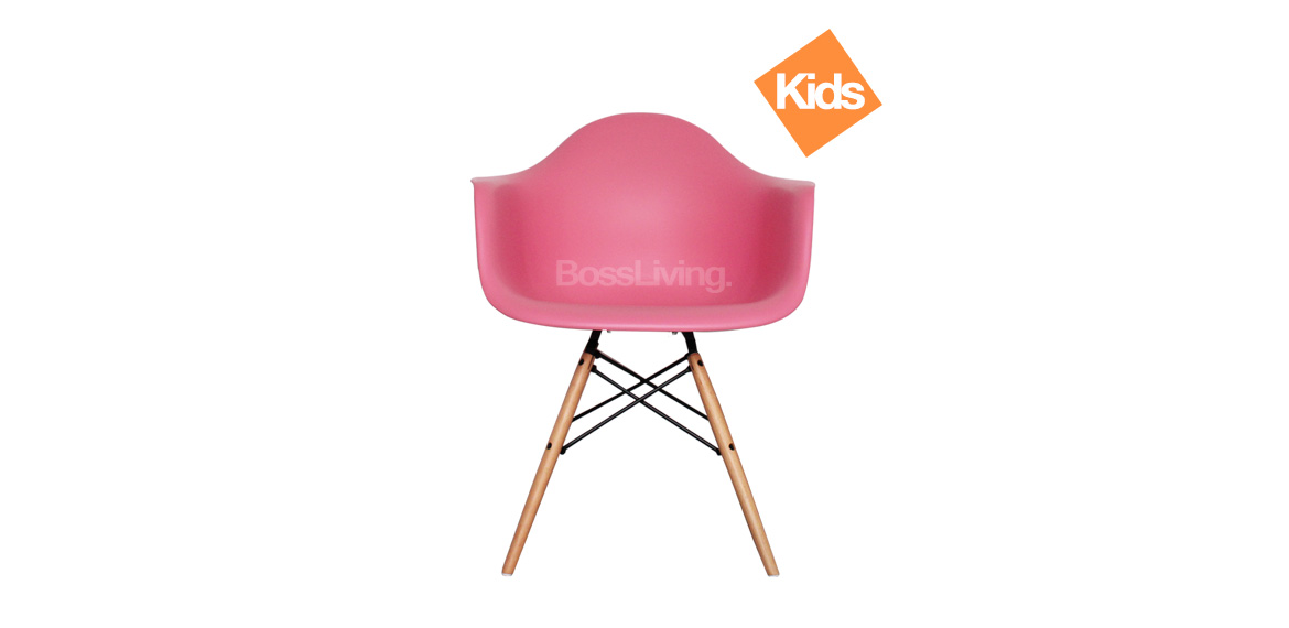 Childrens Charles Ray Eames Style Daw Arm Chair Pink
