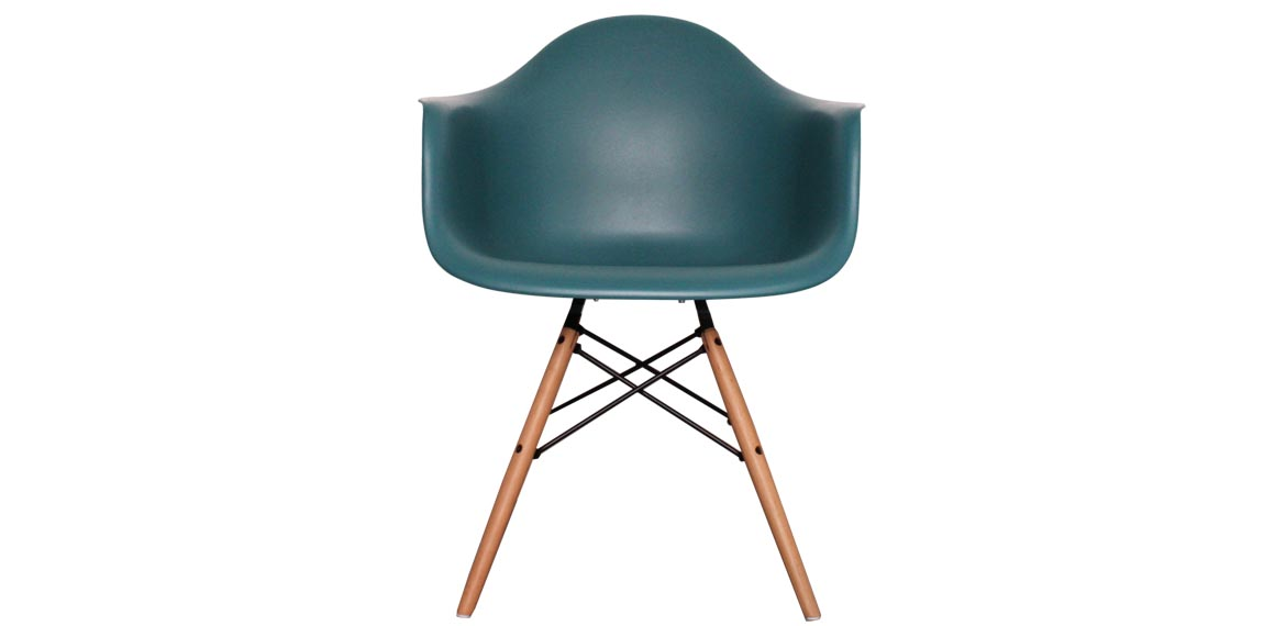 Charles Ray Eames Style DAW Arm Chair Teal
