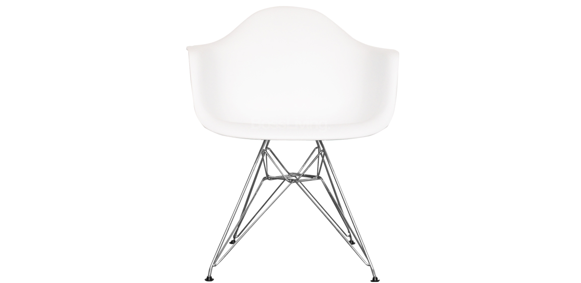 Surprising Charles Ray Eames Style Dar Arm Chair Chrome Legs White Onthecornerstone Fun Painted Chair Ideas Images Onthecornerstoneorg