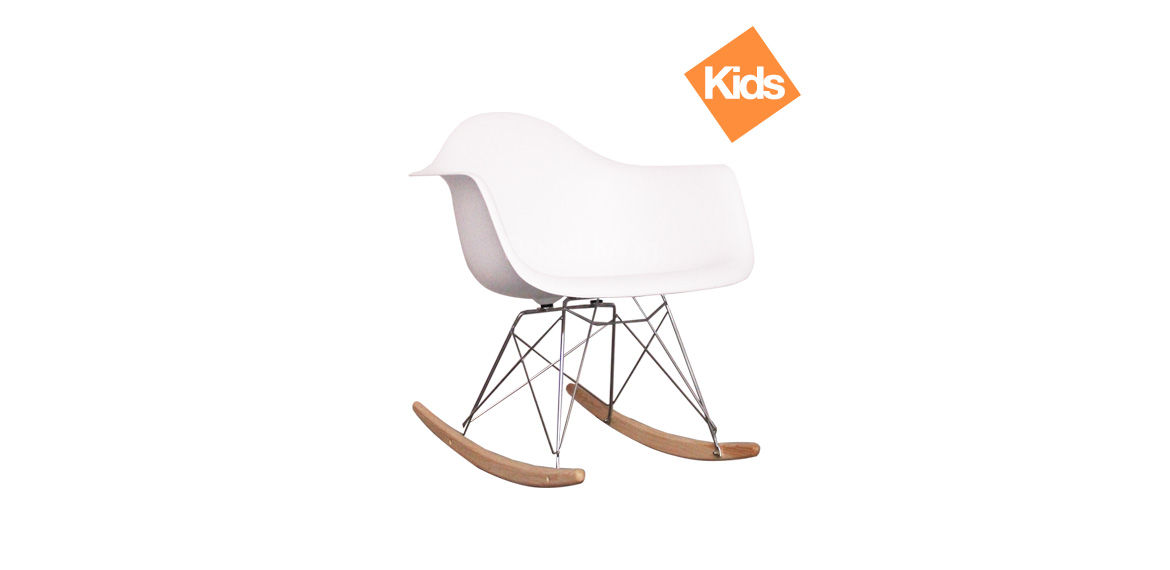 Miraculous Childrens Charles Ray Eames Style Rar Rocking Chair White Gmtry Best Dining Table And Chair Ideas Images Gmtryco
