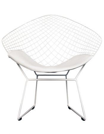 Harry bertoia archives boss livingboss living wire diamond chair harry bertoia inspired white with white cushion greentooth Choice Image