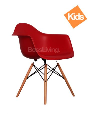 Childrens Charles Ray Eames Style DAW Arm Chair U2013 Red