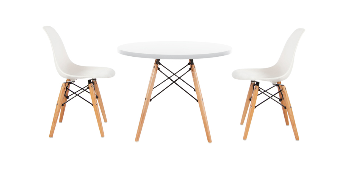 Enjoyable Kids Set Eames Dsw Style White Table 2 Chairs Bralicious Painted Fabric Chair Ideas Braliciousco