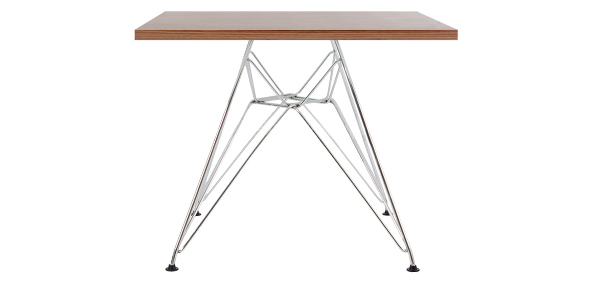 Marvelous Childrens Charles Ray Eames Style Eiffel Square Table Walnut Cjindustries Chair Design For Home Cjindustriesco