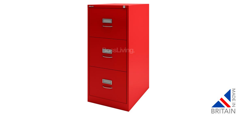 Bisley Classic Filing Cabinet BS3C   Cardinal Red   Boss LivingBoss Living