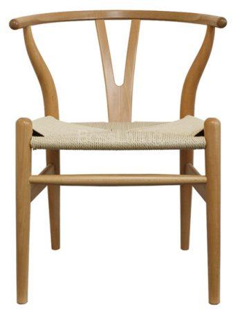 Hans Wegner Style Wishbone Chair Natural