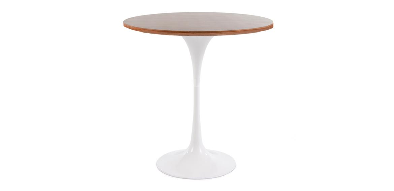 Tulip Style Side Table Eero Saarinen Inspired Walnut