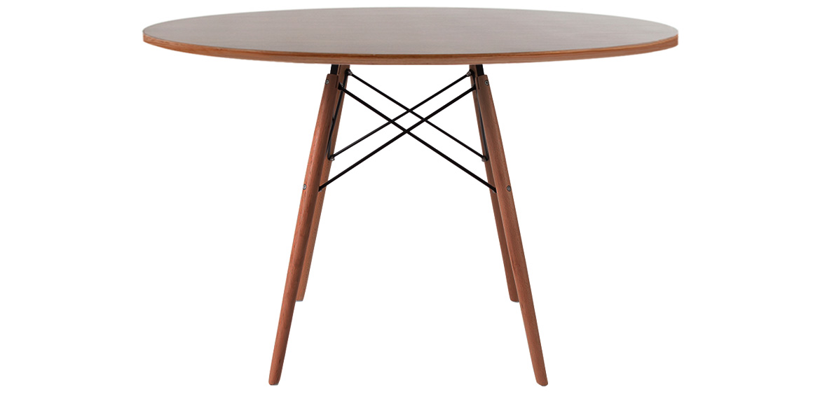 Charles ray eames style walnut round dining table walnut legs charles ray eames style walnut round dining table walnut legs 120 cm boss livingboss living greentooth Gallery