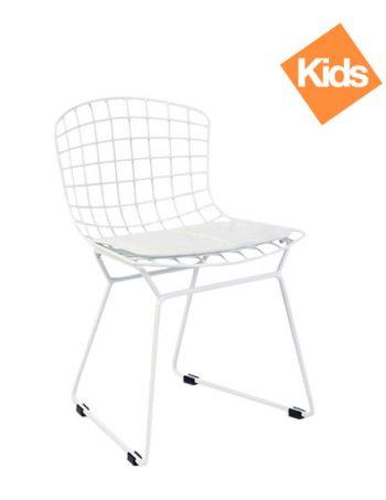 Childrens Harry Bertoia Style Wire Chair U2013 White