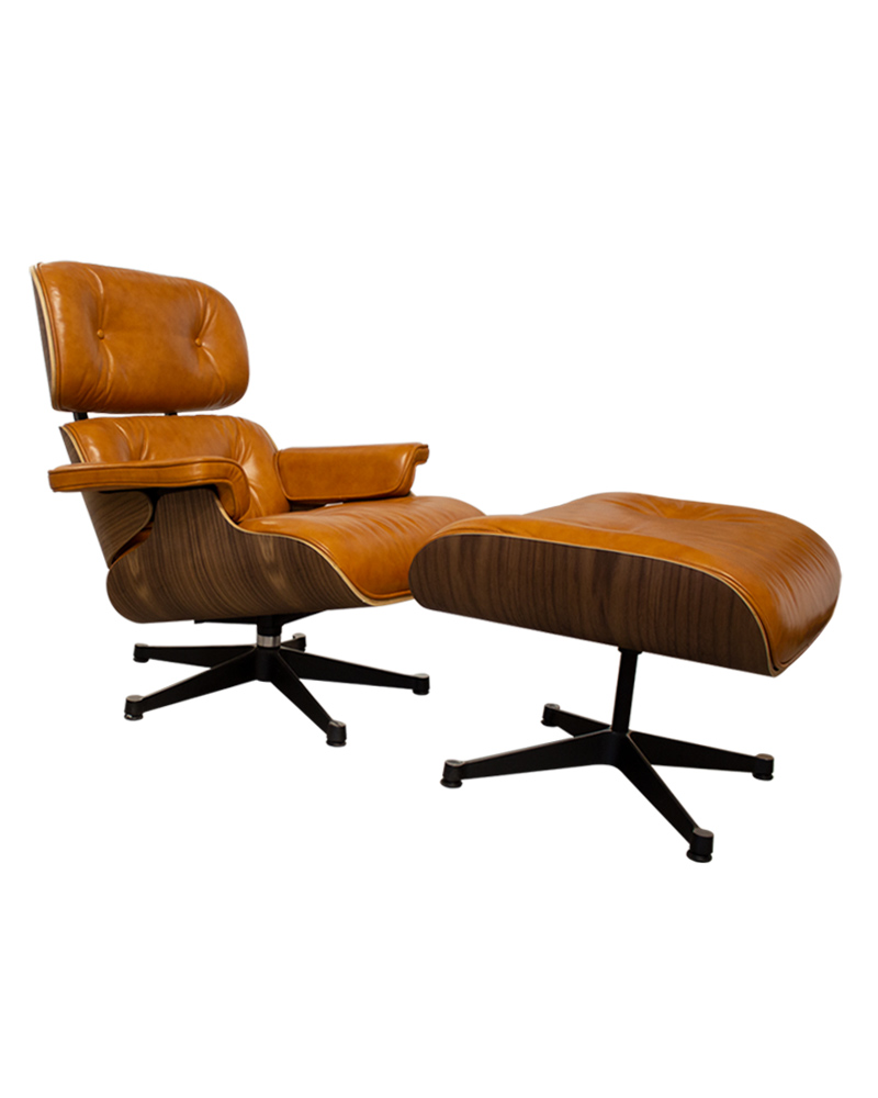 Eames England Ames: Charles Ray Eames Style Walnut Lounge Chair & Ottoman