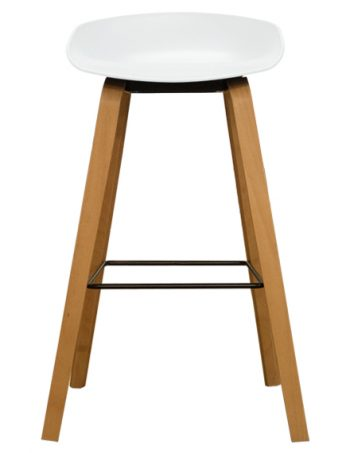 Vogue Hay LowBack Stool White - Front