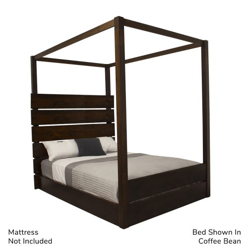 Ashby Wooden Four Poster Bed show in Coffee Bean Stain Product Image shown from the side angle